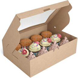 Craft stylish custom window cupcake boxes to enhance products visibility