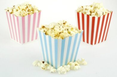 where are the customized popcorn boxes mostly used?