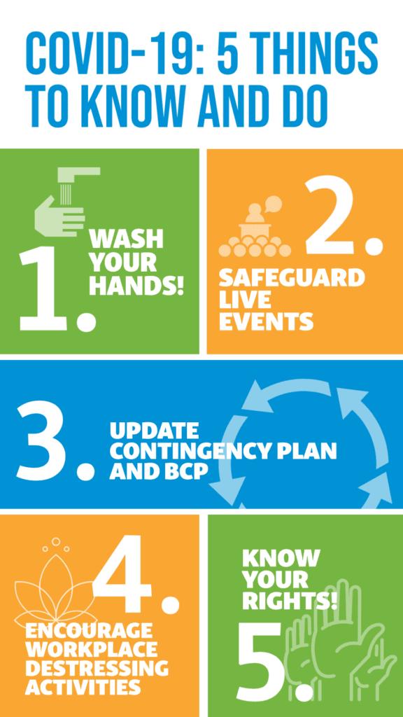 infographic corona checklist