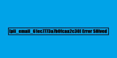 Code Error [pii_email_61ec7773a7b0fcaa2c30] 2021